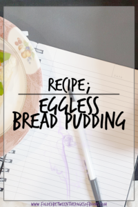 eggless bread pudding pin
